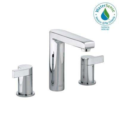 Studio 8 in. Widespread 2-Handle Mid-Arc Bathroom Faucet in Polished Chrome