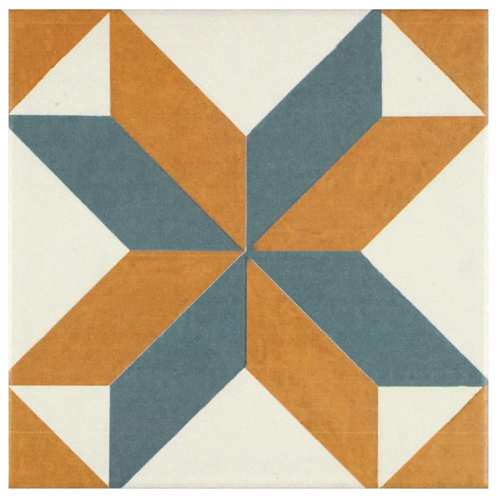 Merola Tile Revival Pattern 7-3/4 in. x 7-3/4 in. Ceramic Floor ...