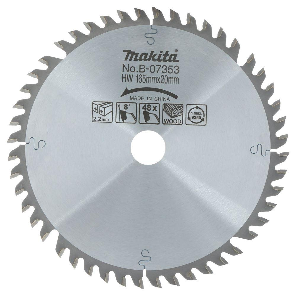 Makita 6-1/2 in. 48-Teeth Carbide Tipped Saw Blade for use with Circular Saw