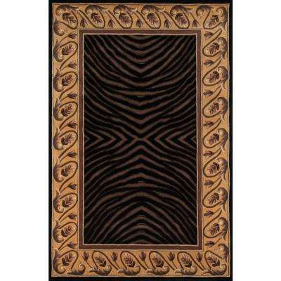 Contempo Black 8 ft. x 11 ft. Area Rug