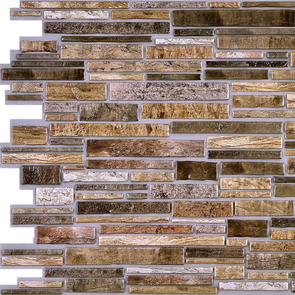 Retro Art 3D Retro 16/1000 in. x 38 in. x 19 in. Brown PVC Wall Panel