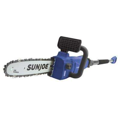 10 in. 8 Amp 2-in-1 Electric Convertible Pole Chainsaw, Blue