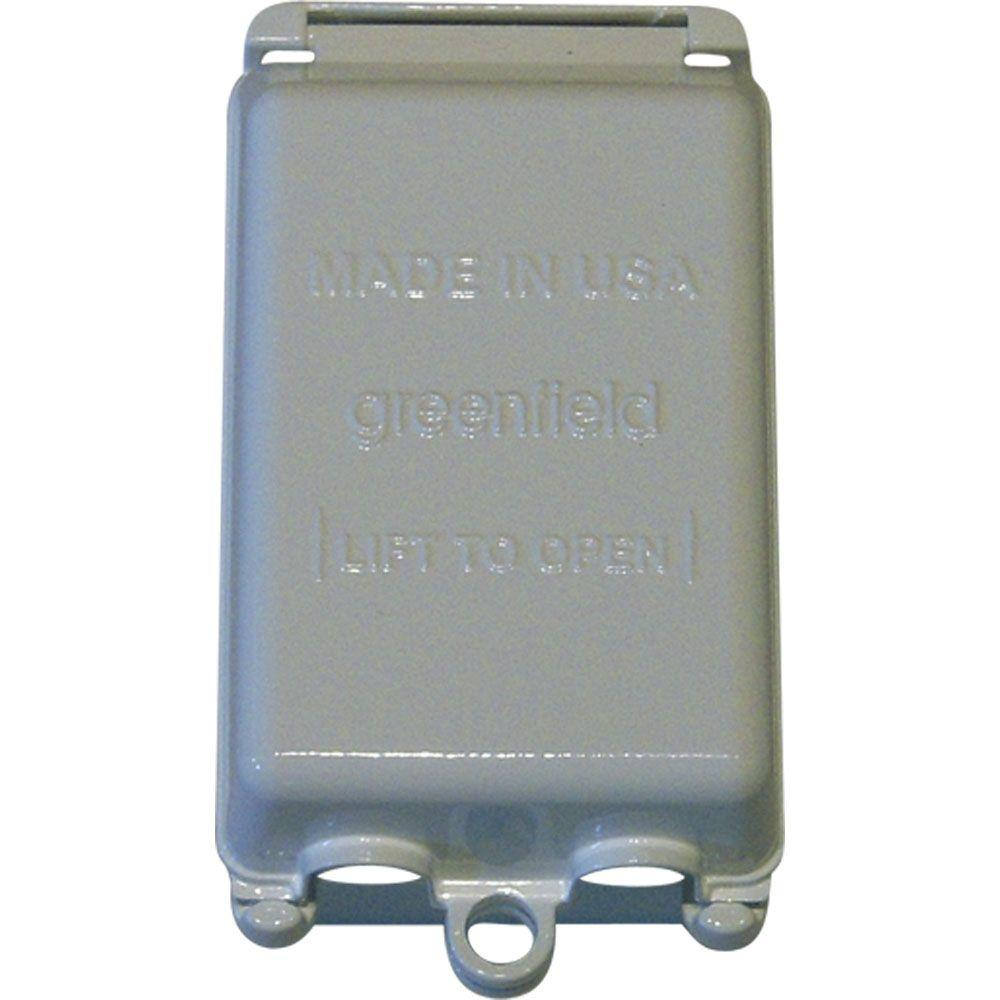While-In-Use Weatherproof Electrical Box Cover Vertical - Gray