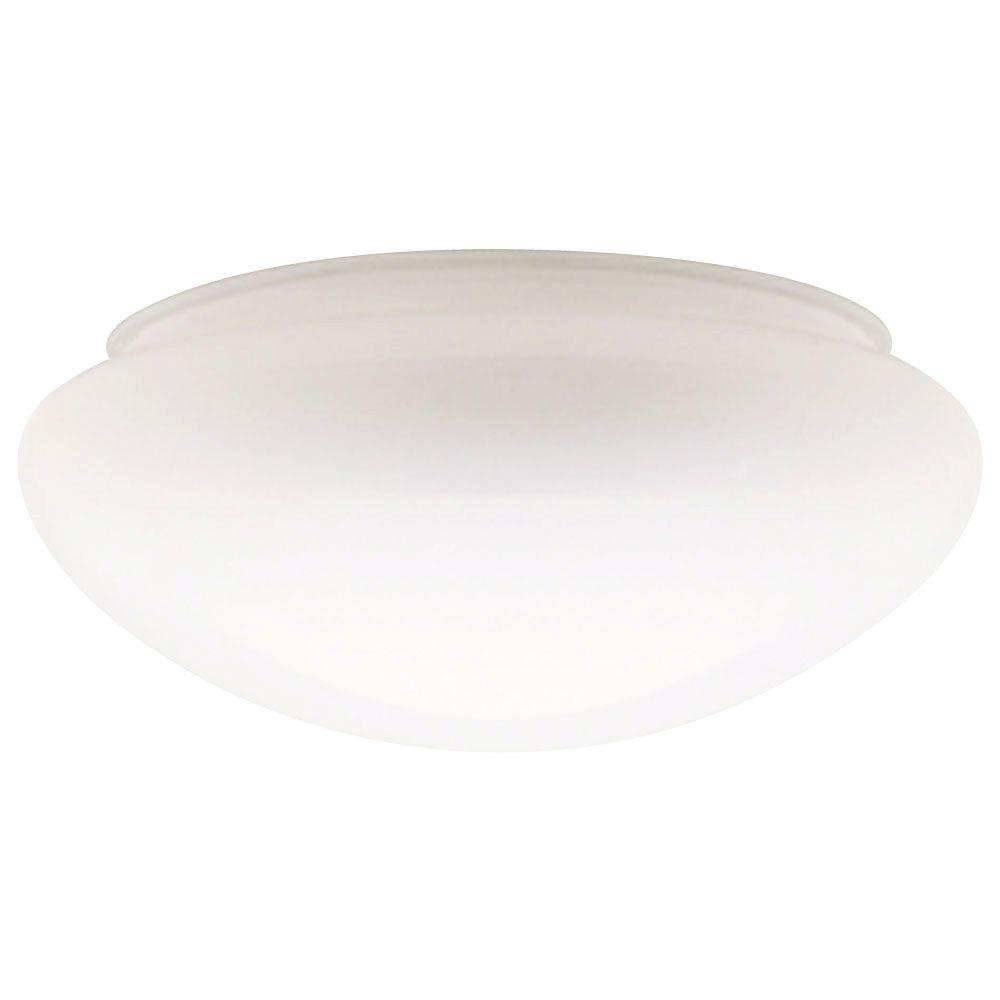 Globes shades ceiling lighting accessories the home depot handblown white mushroom shade with 8 in fitter and 9 1 mozeypictures Gallery