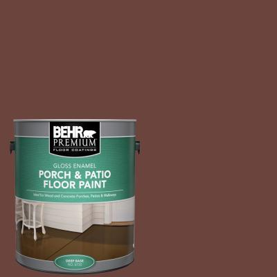 Behr Premium 1 Gal S G 750 Chocolate Sprinkle Gloss Enamel Interior Exterior Porch And Patio Floor Paint 673001 The Home Depot