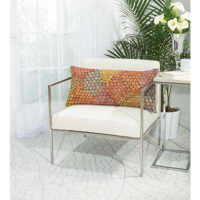 Buttons 14 in. x 30 in. Multicolor Pillow
