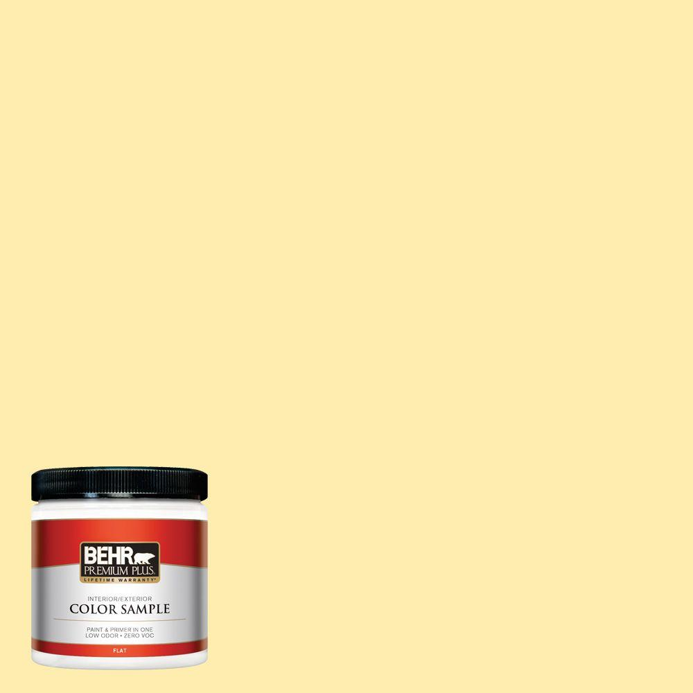 BEHR Premium Plus 8 oz. #370A-2 Pale Daffodil Interior/Exterior Paint Sample