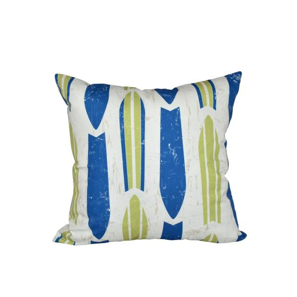 undefined 16 in. x 16 in. Light Green Dean Geometric Print Pillow