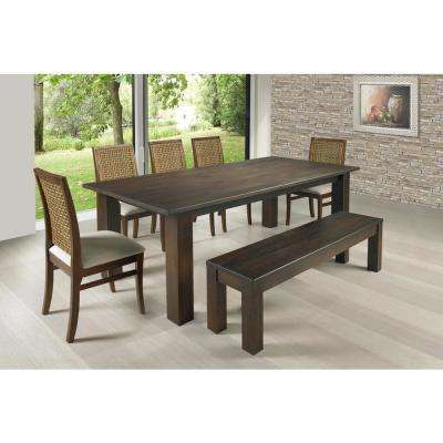 Flora 79 in. Cinnamon Square Legs Dining Table