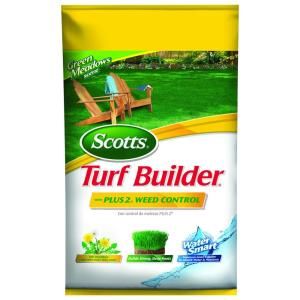 Scotts Turf Builder 14 53 lb  5,000 sq  ft  Lawn Fertilizer with Plus 2  Weed Control-24984 - The Home Depot