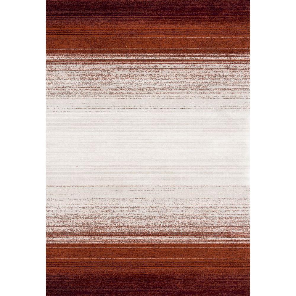 Dorsey Hall Stripes Red 5 ft. 3 in. x 7 ft. 3 in. Indoor Area Rug