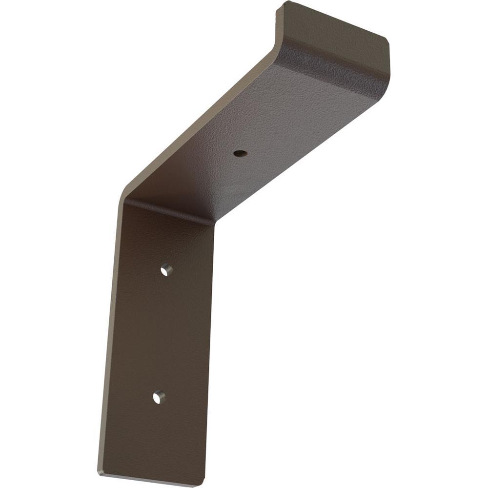 2 in. x 6 1/4 in. x 6 in. Hammered Brown Steel Truss Shelf Bracket