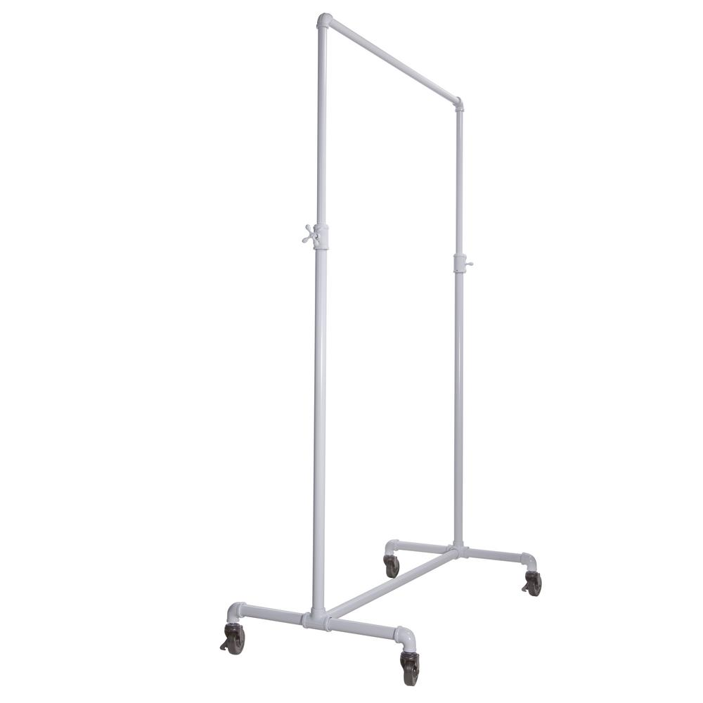 Econoco Pipeline 42 in. W x 72 in. H Adjustable Height White