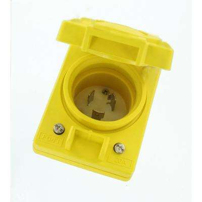20A 125-Volt Wetguard Single Locking Grounding Inlet Cover, Yellow