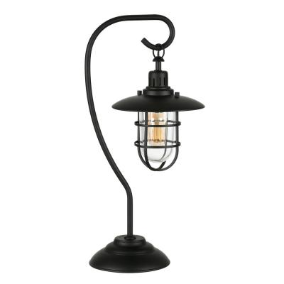 Bay 22 in. Blackened Bronze Nautical Lantern Lamp