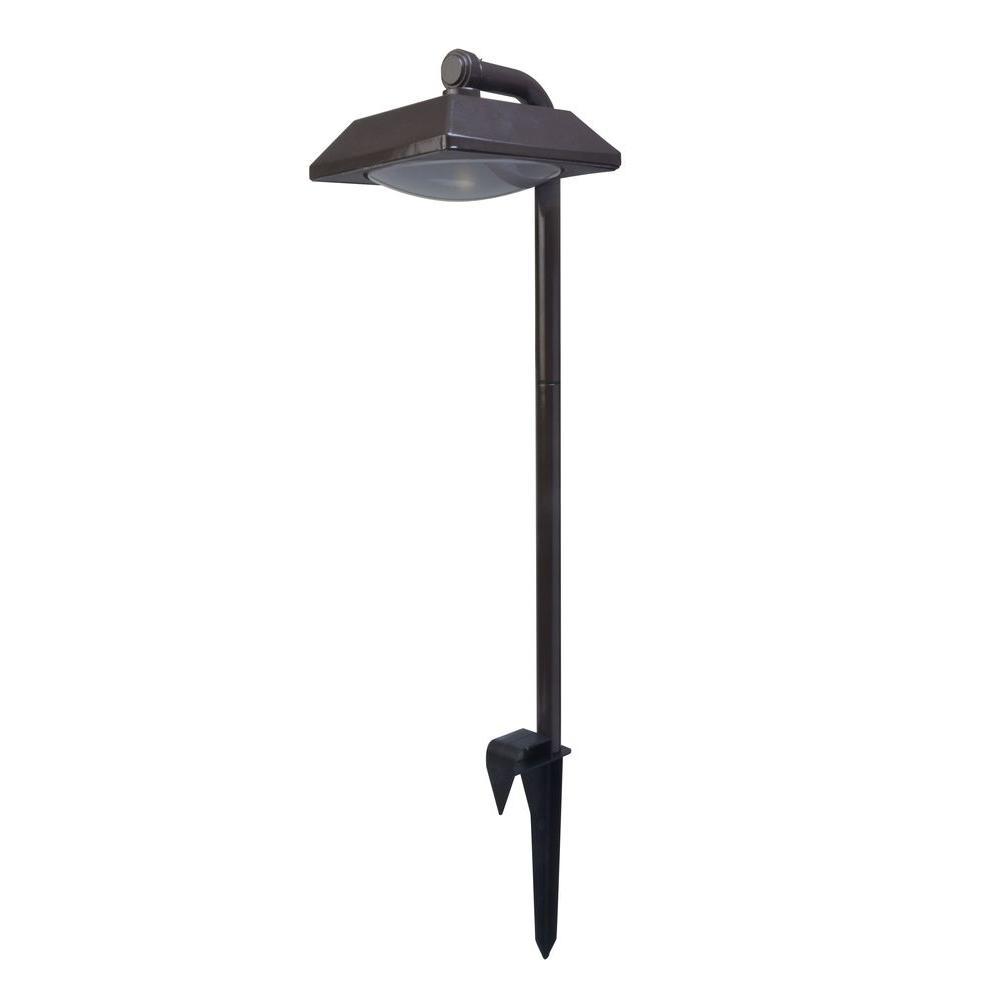 promo code 74225 85137 Moonrays Downlight Solar Powered 12-Lumen Bronze Outdoor Integrated LED  Landscape Path Light (4-Pack)