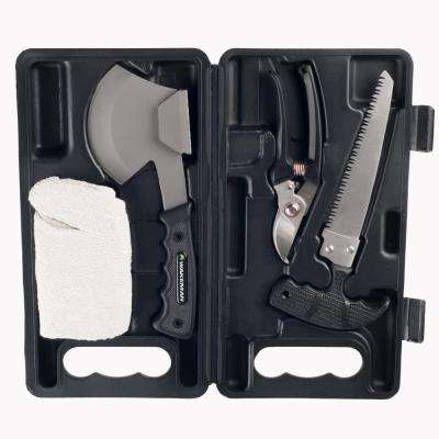 Metal Camping Tool Kit Set (4-Piece)
