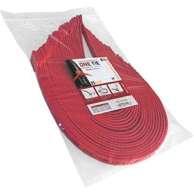 20 in. Cable Ties, Red (25-Pack)