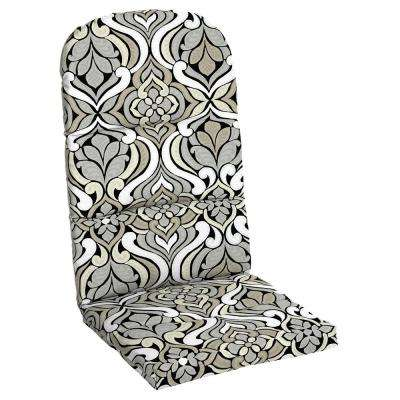 Black and Gray Tile Outdoor Adirondack Chair Cushion