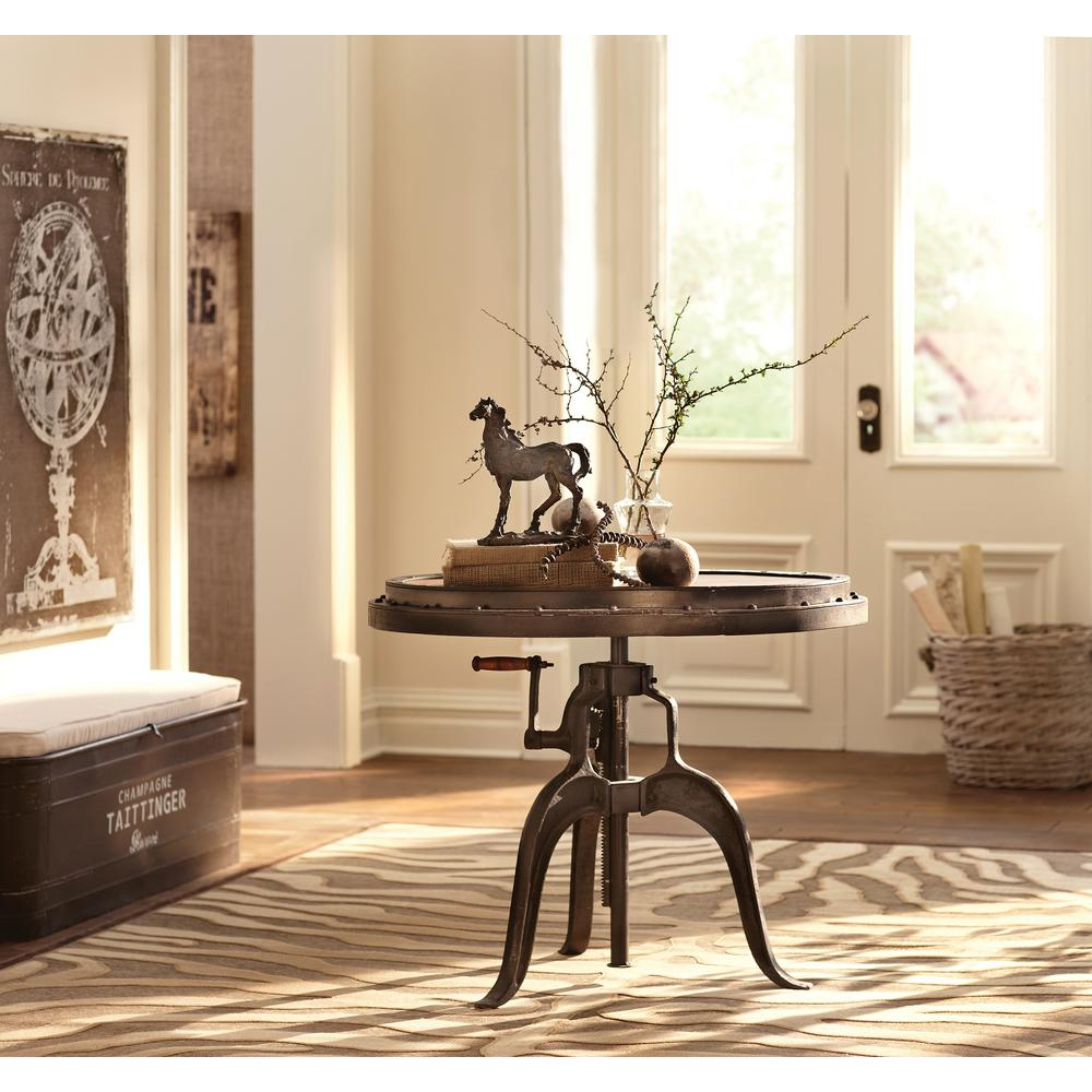 Home Decorators Collection Natural Adjustable End Table-0179800960 ...