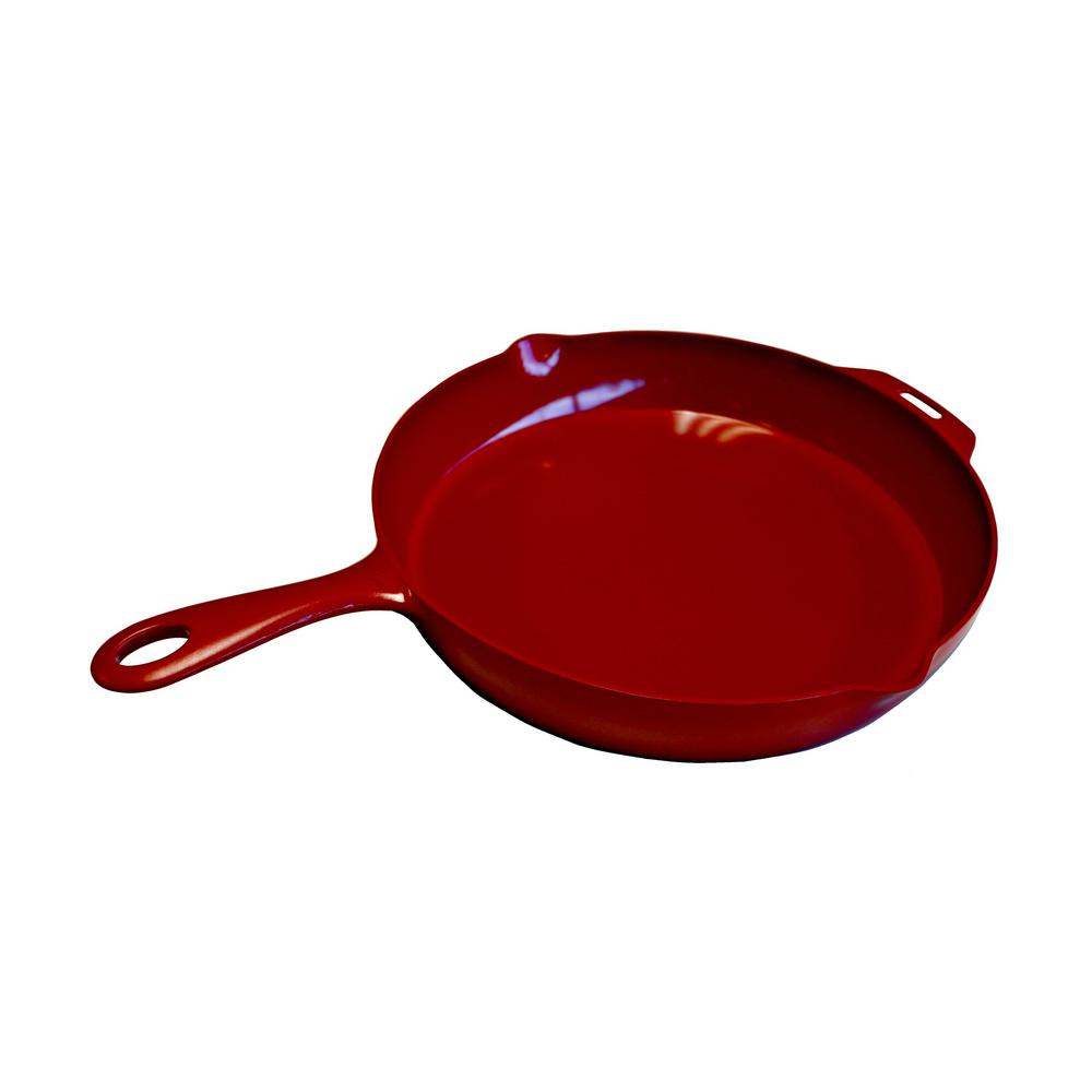 Little Griddle 12 in. Ceramic Nonstick Indoor/Outdoor Skillet in Red