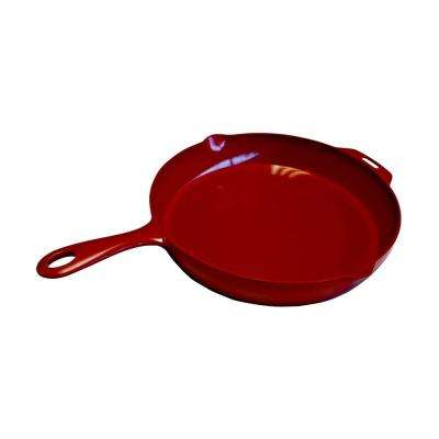 12 in. Ceramic Nonstick Indoor/Outdoor Skillet in Red