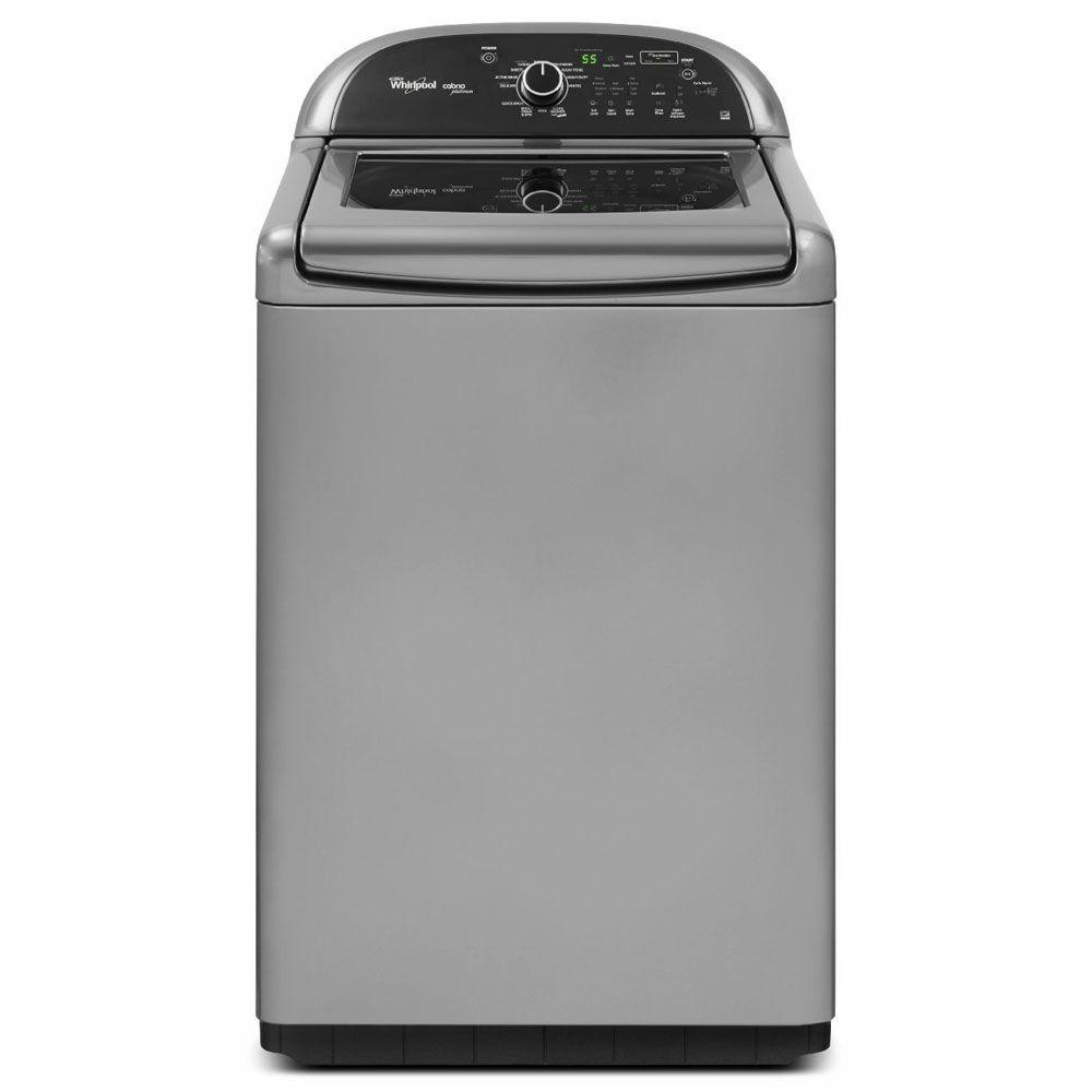 Whirlpool Cabrio Platinum 4.8 cu. ft. High-Efficiency Top Load Washer in Chrome Shadow, ENERGY STAR