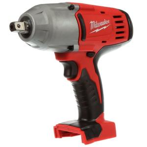 Click here to buy Milwaukee M18 18-Volt Lithium-Ion Cordless 1/2 inch Impact Wrench W/ Pin Detent (Tool Only) by Milwaukee.