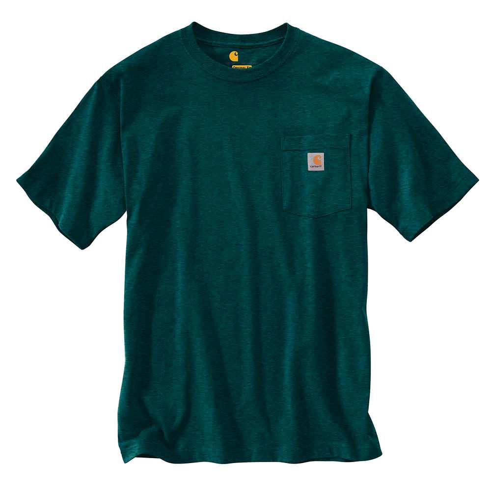 Carhartt Mens Tall X Large Hunter Green Heather Cottonpolyester Short Sleeve T Shirt