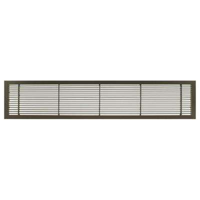 AG10 Series 4 in. x 8 in. Solid Aluminum Fixed Bar Supply/Return Air Vent Grille, Antique Bronze