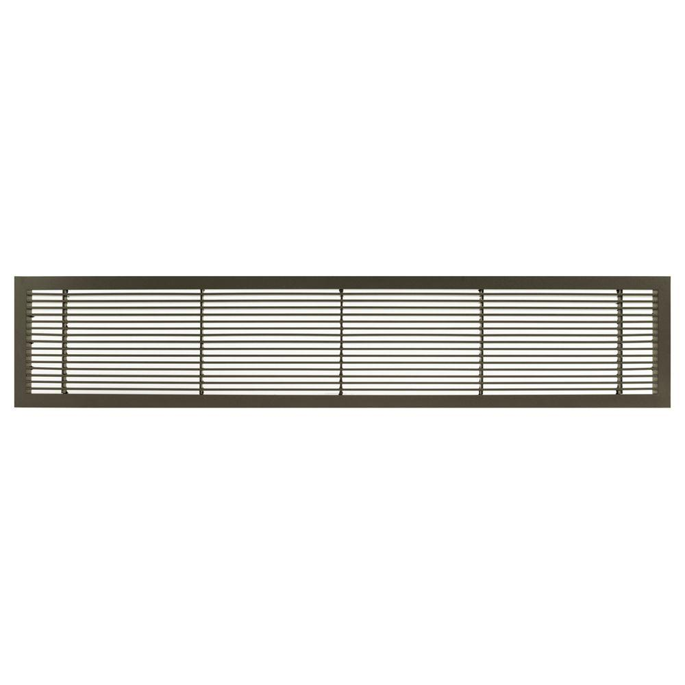 Architectural Grille AG10 Series 6 in. x 36 in. Solid Aluminum Fixed Bar Supply/Return Air Vent Grille, Antique Bronze