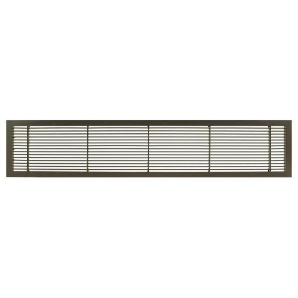 Architectural Grille Ag10 Series 6 In X 42 In Solid Aluminum Fixed Bar Supply Return Air Vent Grille Antique Bronze With Door 100064216 The Home Depot