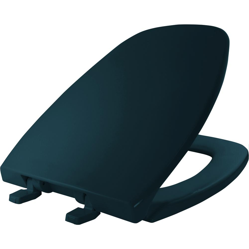 Elongated Closed Front Toilet Seat in Verde Green