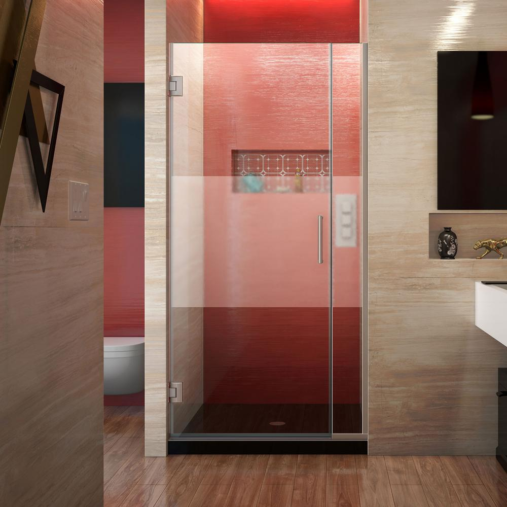 Unidoor Plus 35.5 to 36 in. x 72 in. Frameless Hinged