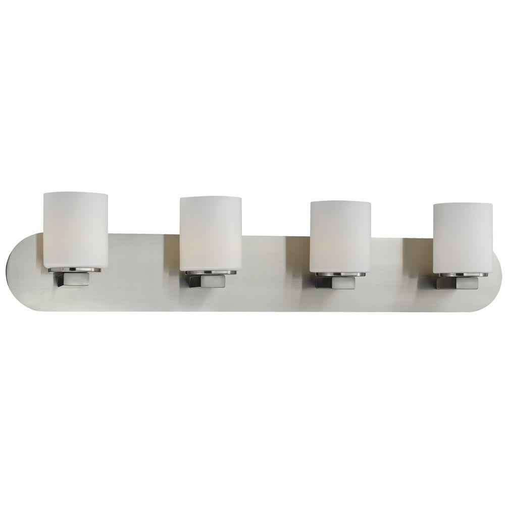 null Evry Collection 4-Light Satin Nickel Wall Bath Bar
