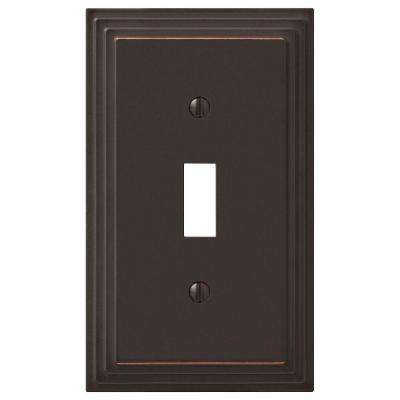 Tiered 1-Gang Toggle Wall Plate, Oil-Rubbed Bronze Cast