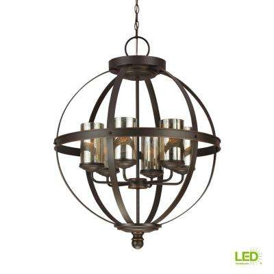 Sfera 6-Light Autumn Bronze Chandelier with LED Bulbs