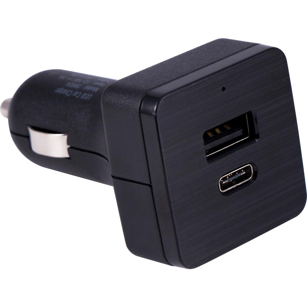 22.5-Watt High Speed Dual Port USB C and USB A Car