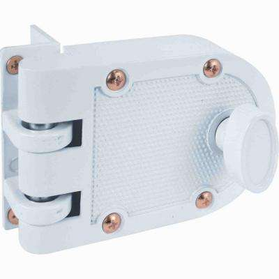 Single Cylinder White Jimmy-Resistant Entry Door Deadlock