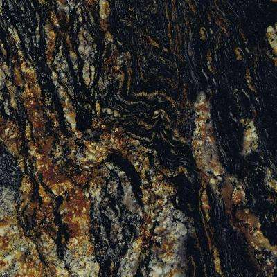 5 in. x 7 in. Laminate Countertop Sample in 180fx Magma Black with Radiance Finish