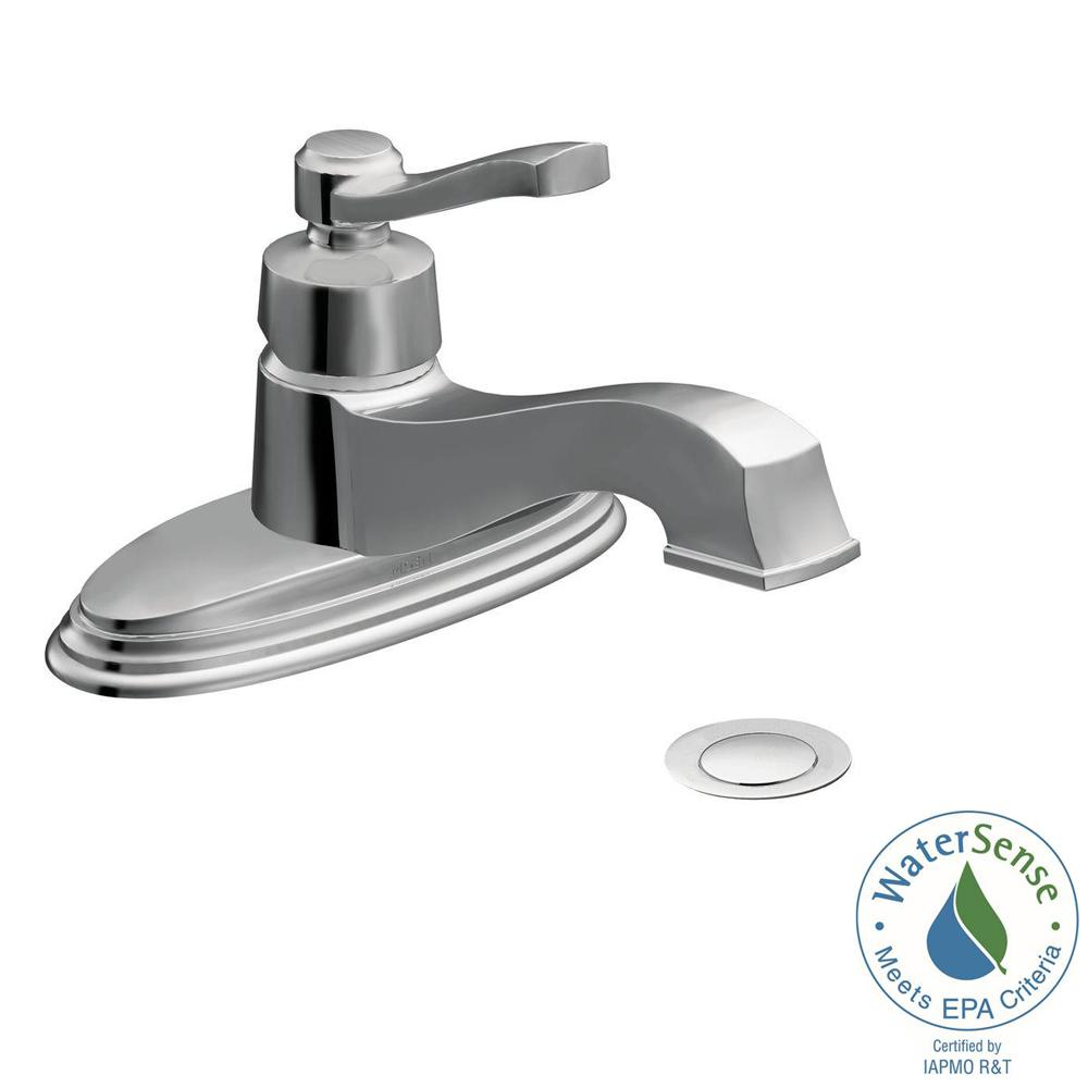MOEN Rothbury Single Hole 1-Handle Low-Arc Bathroom Lavatory Faucet ...