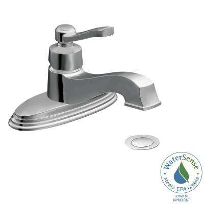 Rothbury Single Hole 1-Handle Low-Arc Bathroom Lavatory Faucet in Chrome