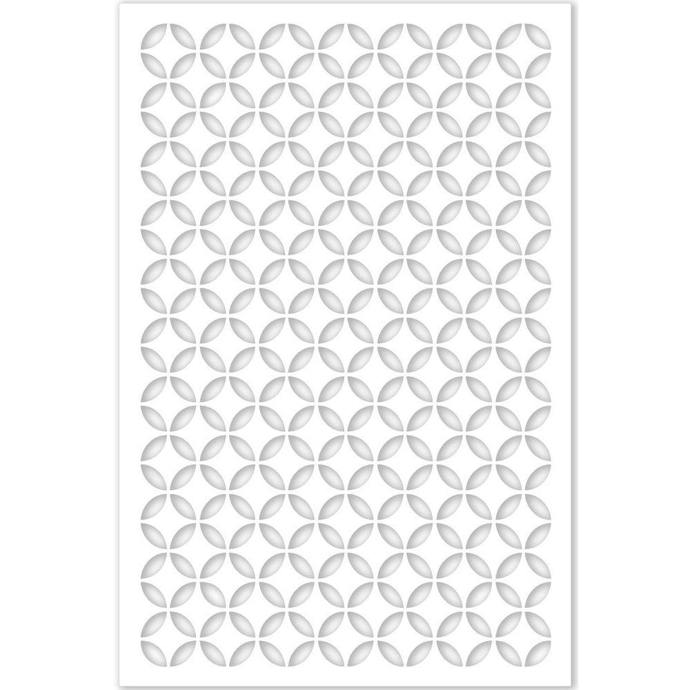 Morrish Circle 32 in. x 4 ft. White Vinyl Decorative Screen Panel