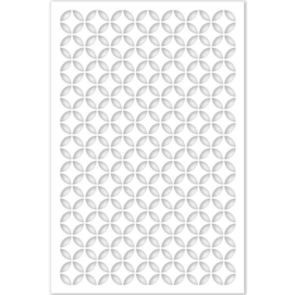 Morrish Circle 32 in. x 4 ft. White Vinyl Decorative Screen Panel