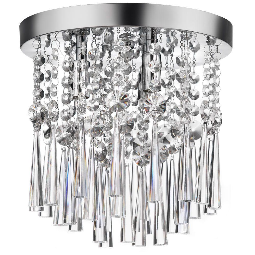 Filament Design Adeline 3-Light Polished Chrome Chandelier