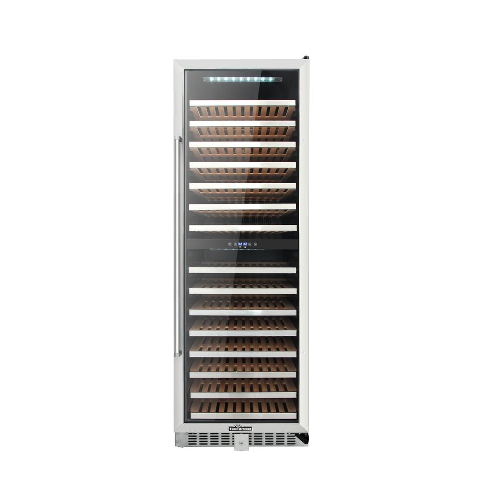 Wine Refrigerator Reviews >> Thor Kitchen DUAL ZONE 156-Bottle Built in Wine Cooler-HWC2403U - The Home Depot