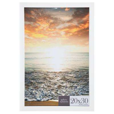 20 in. x 30 in. White Flat Poster Picture Frame
