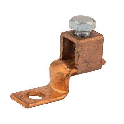 3/0-4 AWG Copper Solderless Lug, 3/8 in. Mounting Hole- 1 Count