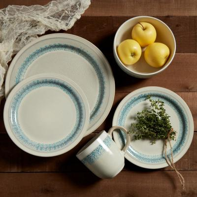 Milan 16-Piece Traditional Taupe Stoneware Dinnerware Set (Service for 4)