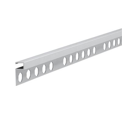 Novolistel 3 Matt Silver 1/2 in. x 98-1/2 in. Aluminum Tile Edging Trim